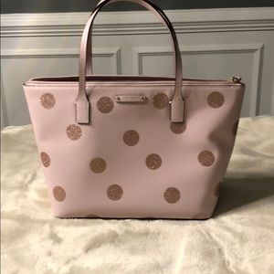 Kate Spade Pink sparkle tote